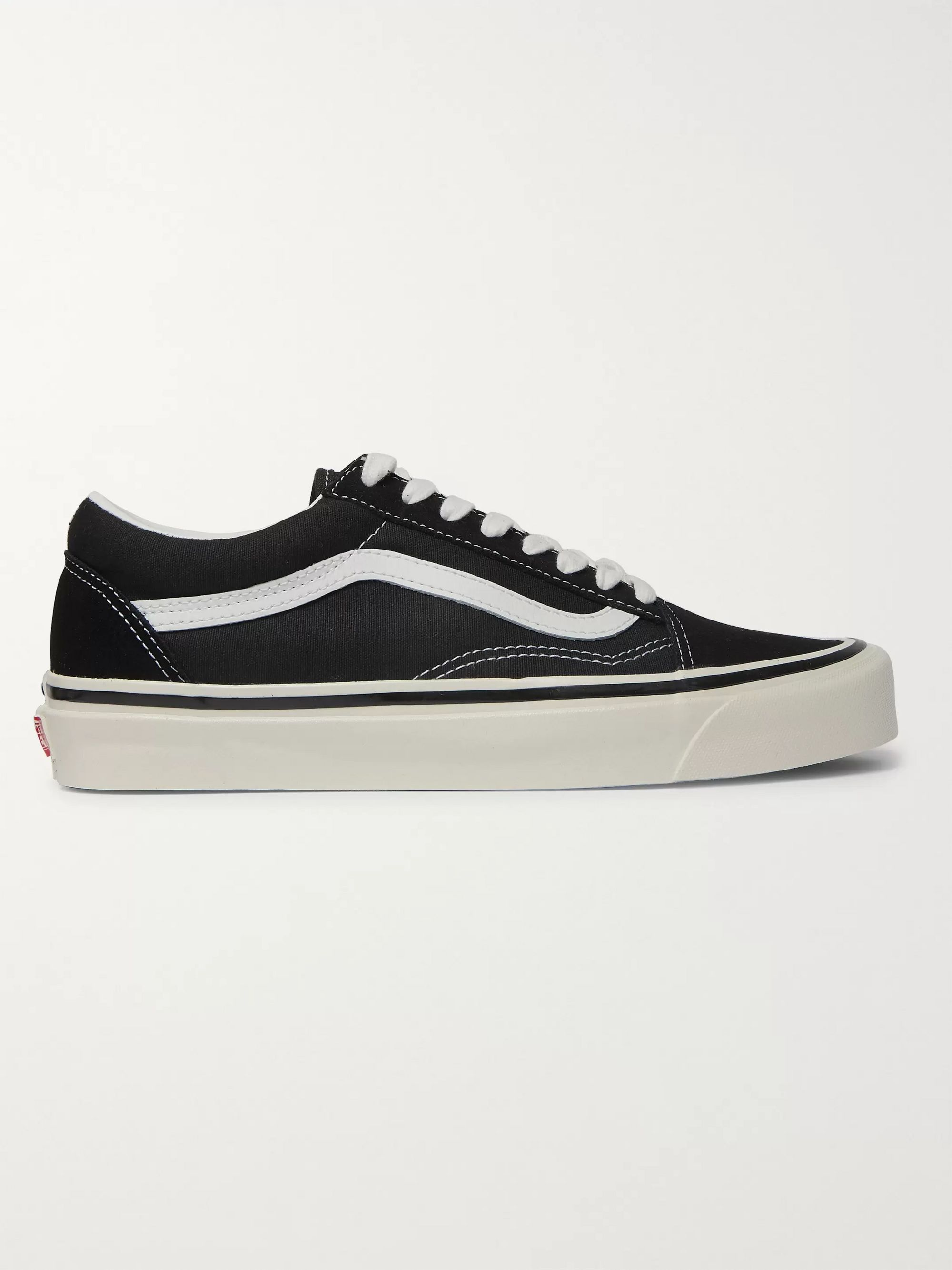 Vans Old Skool 36 DX Leather-Trimmed Canvas and Suede Sneakers