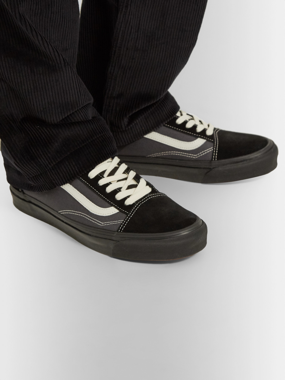 Vans Sneakers UA OG OLD SKOOL LX LEATHER-TRIMMED CANVAS AND SUEDE SNEAKERS