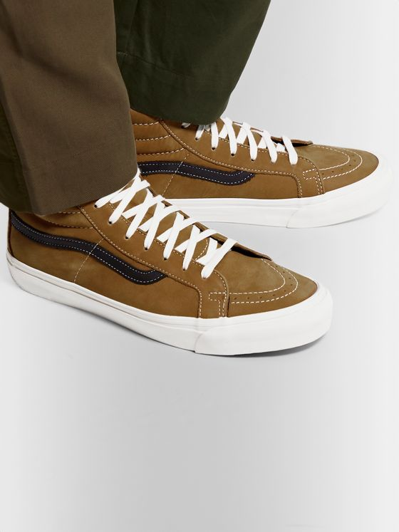 Vans OG SK8-Hi LX Leather-Trimmed Nubuck High-Top Sneakers