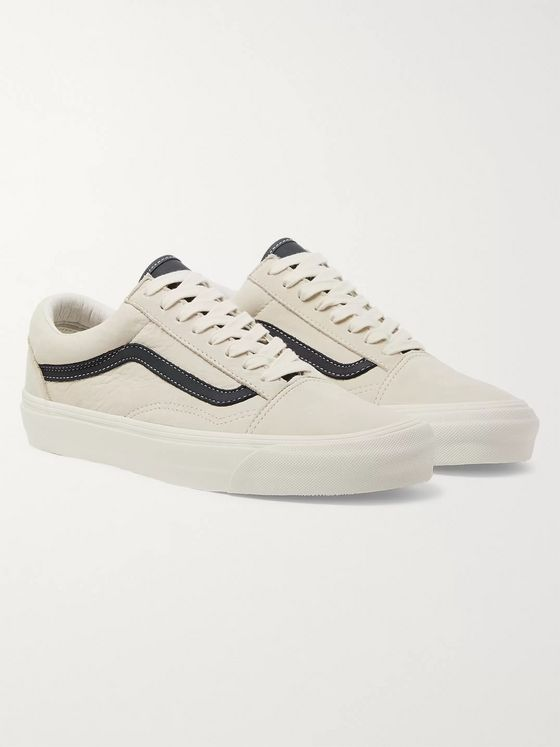 Vans OG Old Skool LX Leather-Trimmed Nubuck Sneakers