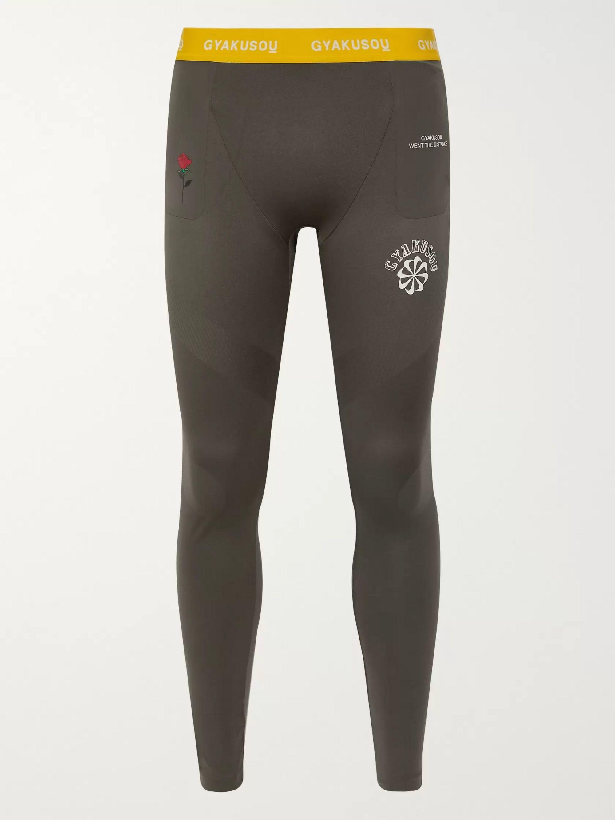 Dark gray + GYAKUSOU Helix NRG Logo-Print Dri-FIT Running Tights | Nike x Undercover | MR PORTER