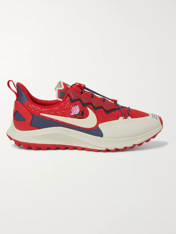 Nike x Undercover Gyakusou Zoom Pegasus 36 Trail Suede-Trimmed Rubber and Mesh Running Sneakers