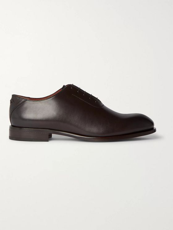 Ermenegildo Zegna Vienna Leather Oxford Shoes