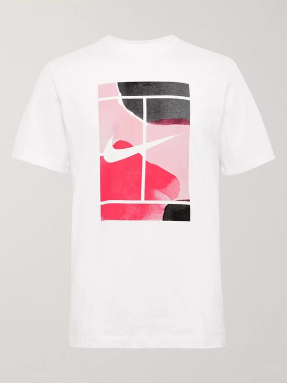 Nike Tennis NikeCourt Printed Cotton-Jersey T-Shirt
