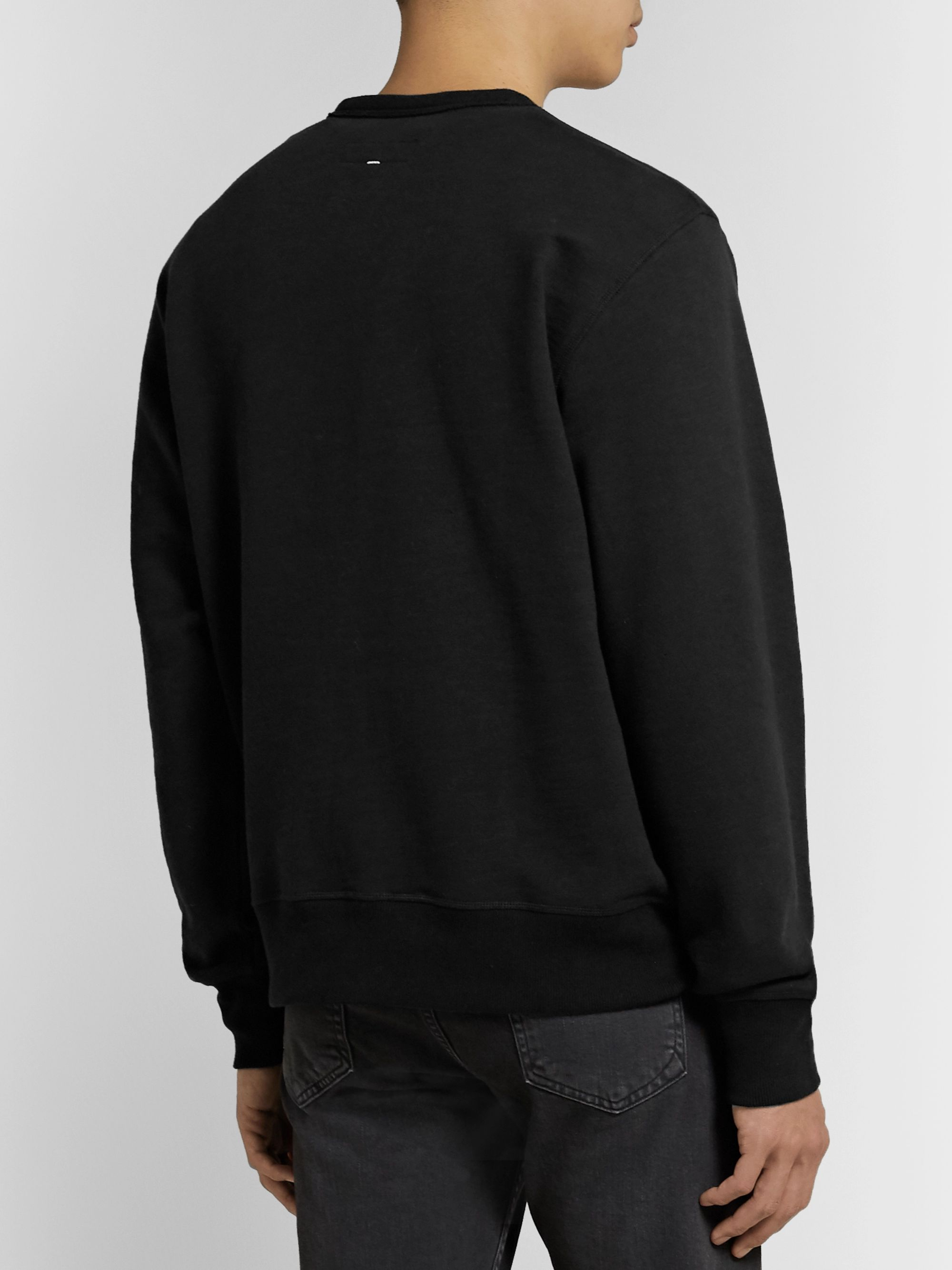 rag & bone Appliquéd Loopback Cotton-Jersey Sweatshirt