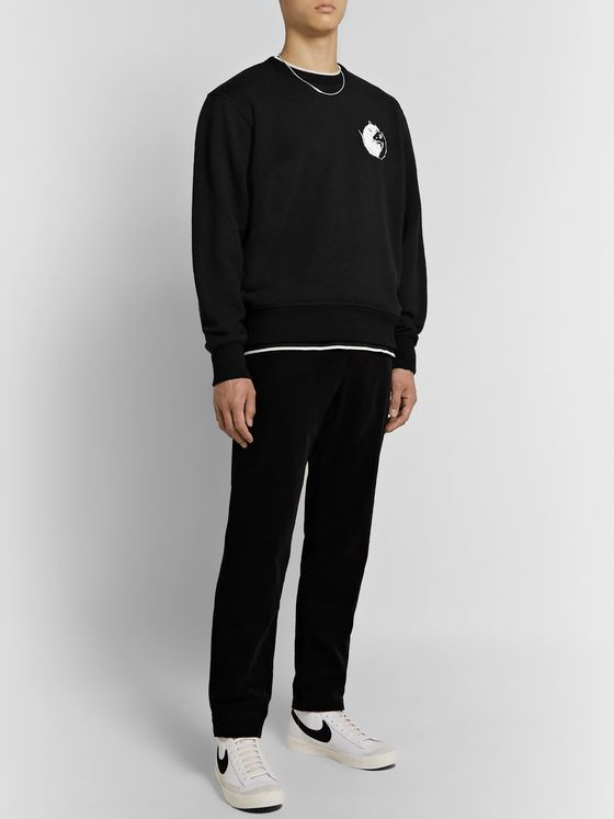 rag & bone Printed Loopback Cotton-Jersey Sweatshirt