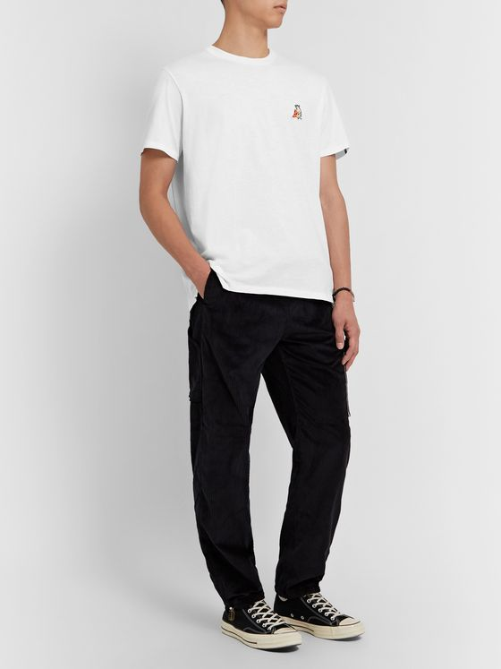 rag & bone Logo-Appliquéd Cotton-Jersey T-Shirt