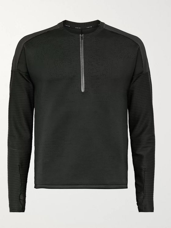Nike Running Tech Pack Ribbed Stretch-Jersey Half-Zip Top