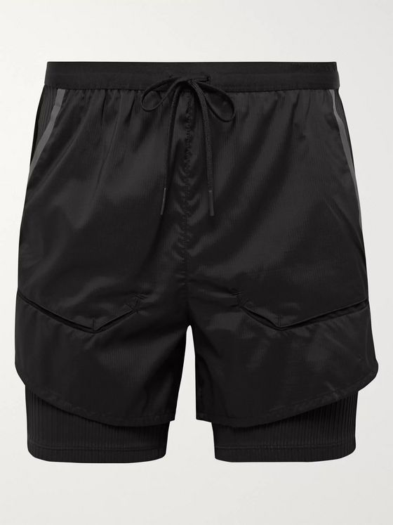 Nike Running Tech Pack 2-in-1 Slim-Fit Ribbed Stretch-Jersey and Ripstop Shorts