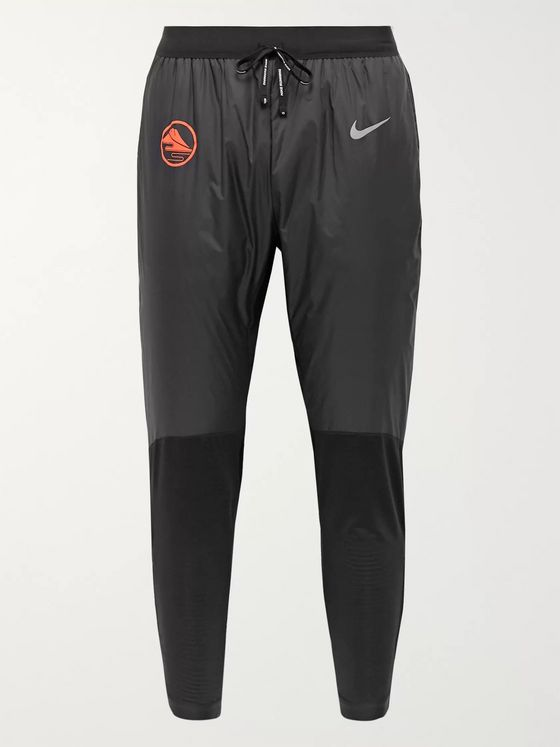 Nike Running Phenom Elite Slim-Fit Tapered Thermore Shell and Fleece-Back Stretch-Jersey Trousers