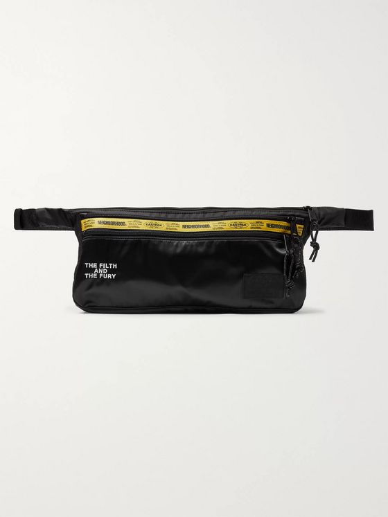 Neighborhood + Eastpak Logo-Detailed Satin and Nylon Belt Bag