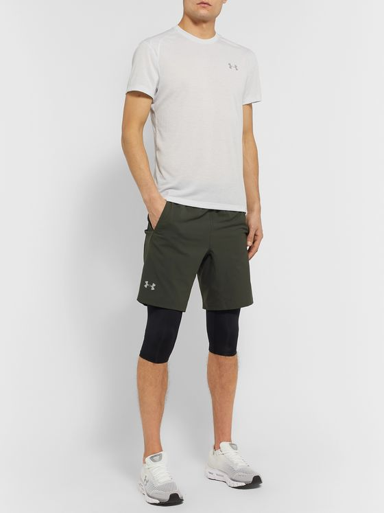 Under Armour UA SW Slim-Fit Layered Stretch-Shell Shorts