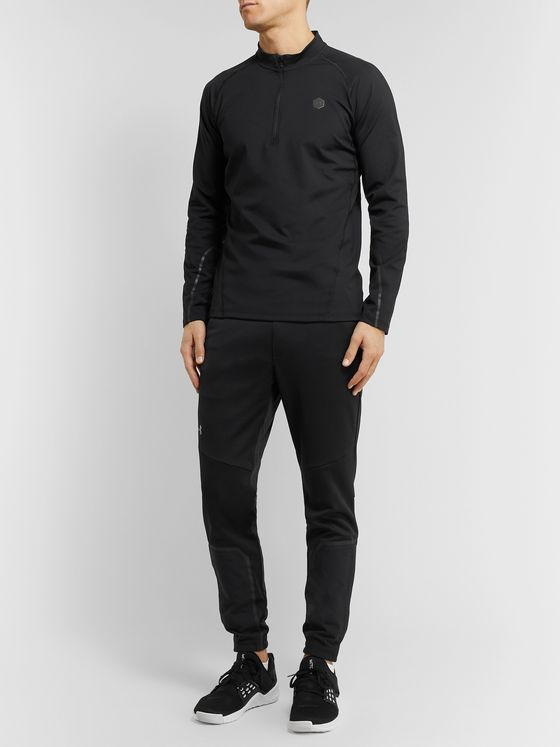 Under Armour UA Rush Mesh-Panelled ColdGear Half-Zip T-Shirt