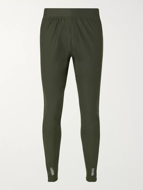 Under Armour Qualifier Slim-Fit Tapered Panelled Jersey Track Pants
