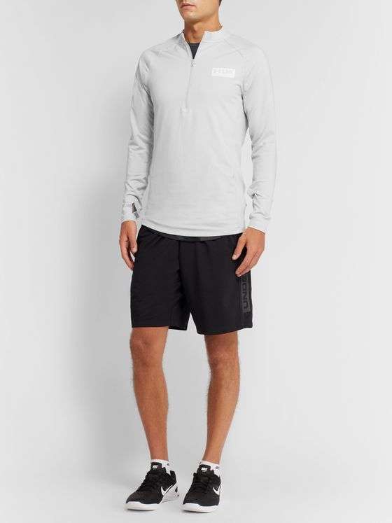Under Armour Gametime Mesh-Panelled ColdGear Half-Zip Top