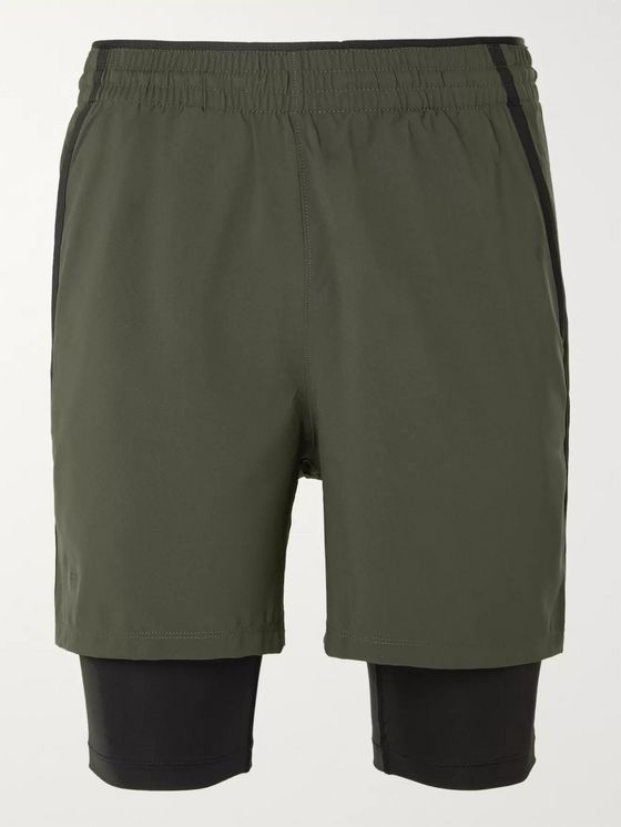 Under Armour UA Qualifier 2-in-1 Shell and HeatGear Shorts