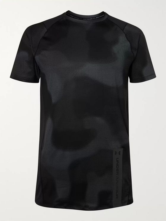 Under Armour MK-1 Mesh-Panelled Camouflage-Print HeatGear T-Shirt