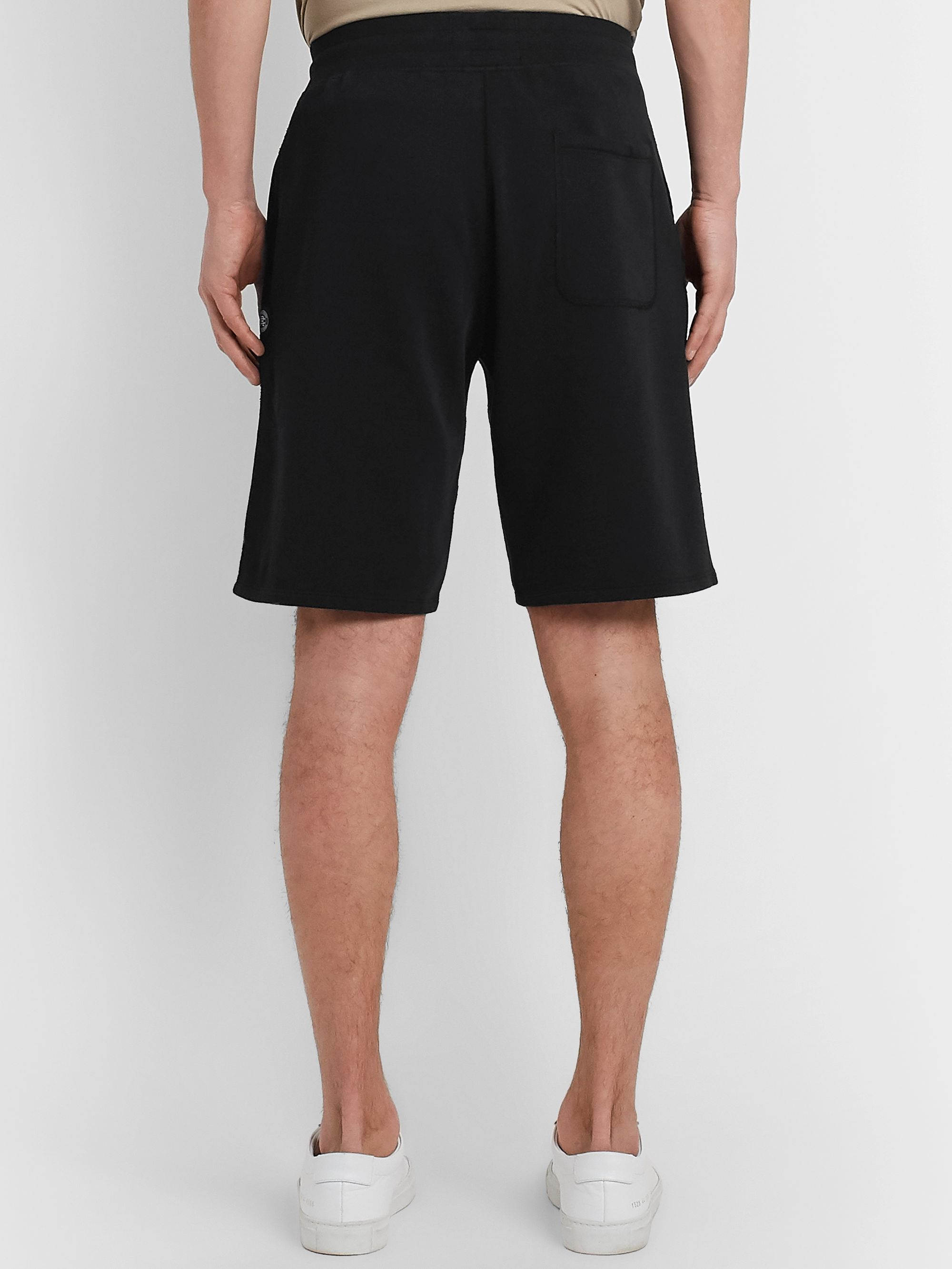 Reigning Champ Wide-Leg Loopback Pima Cotton-Jersey Drawstring Shorts