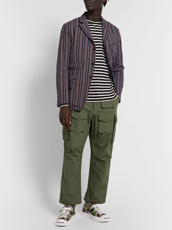 Engineered Garments Andover Striped Cotton-Blend Seersucker Suit Jacket