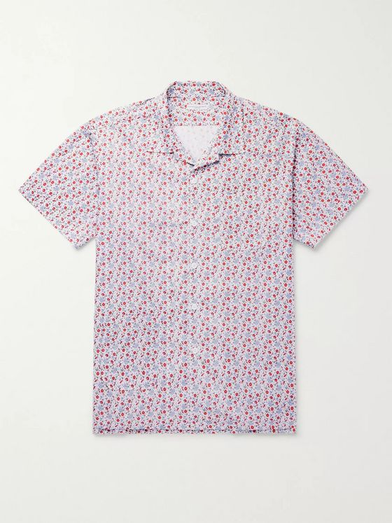 Engineered Garments Camp-Collar Floral-Print Cotton Shirt