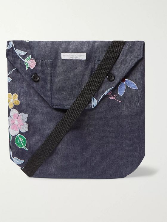 Engineered Garments Embroidered Denim Pouch
