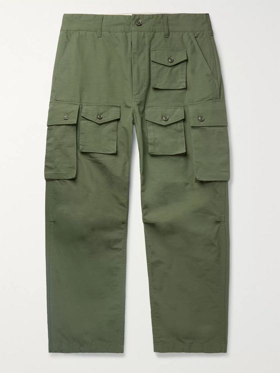 Engineered Garments Cotton-Ripstop Cargo Trousers