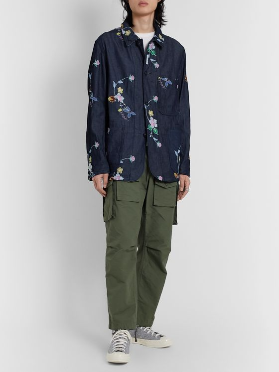 Engineered Garments Embroidered Denim Chore Jacket