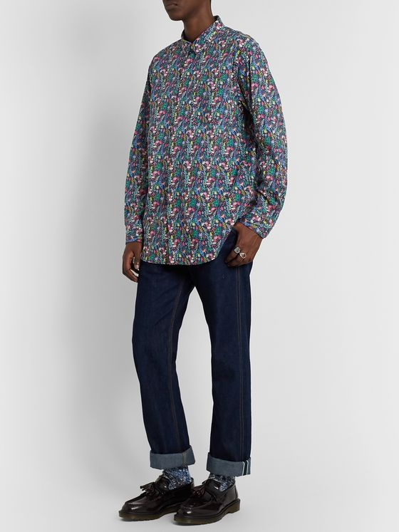 Engineered Garments Floral-Print Cotton Shirt