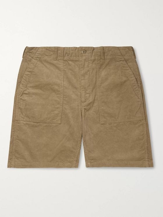 Engineered Garments Wide-Leg Cotton-Corduroy Shorts