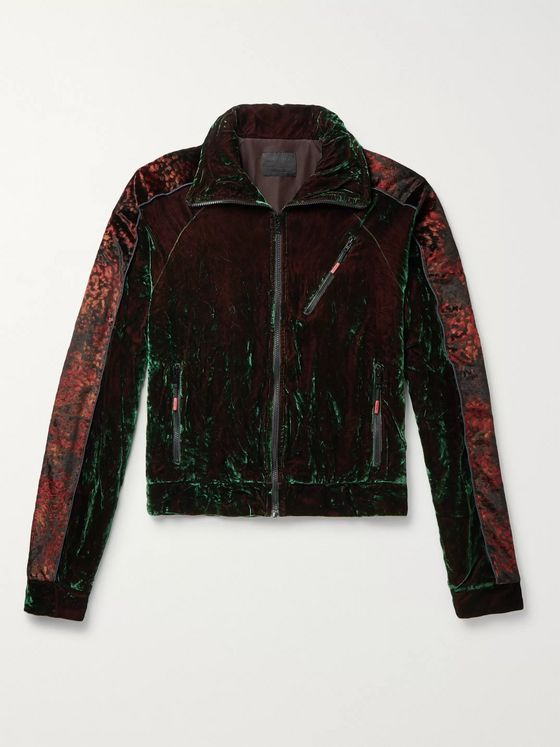 99%IS- Oversized Iridescent Velvet Track Jacket