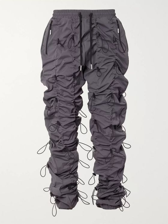 99%IS- Gobchang Slim-Fit Tapered Toggled Shell Drawstring Trousers