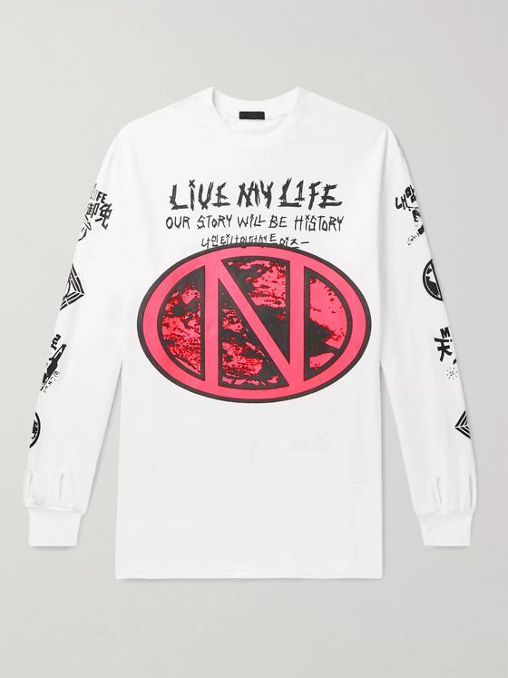 99%IS- Live My Life Oversized Printed Cotton-Jersey T-Shirt