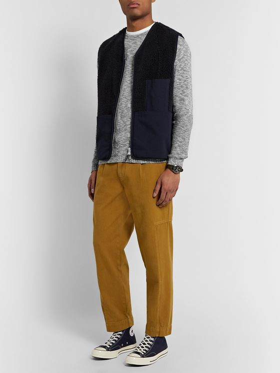 Folk Slim-Fit Mélange Cotton Sweater
