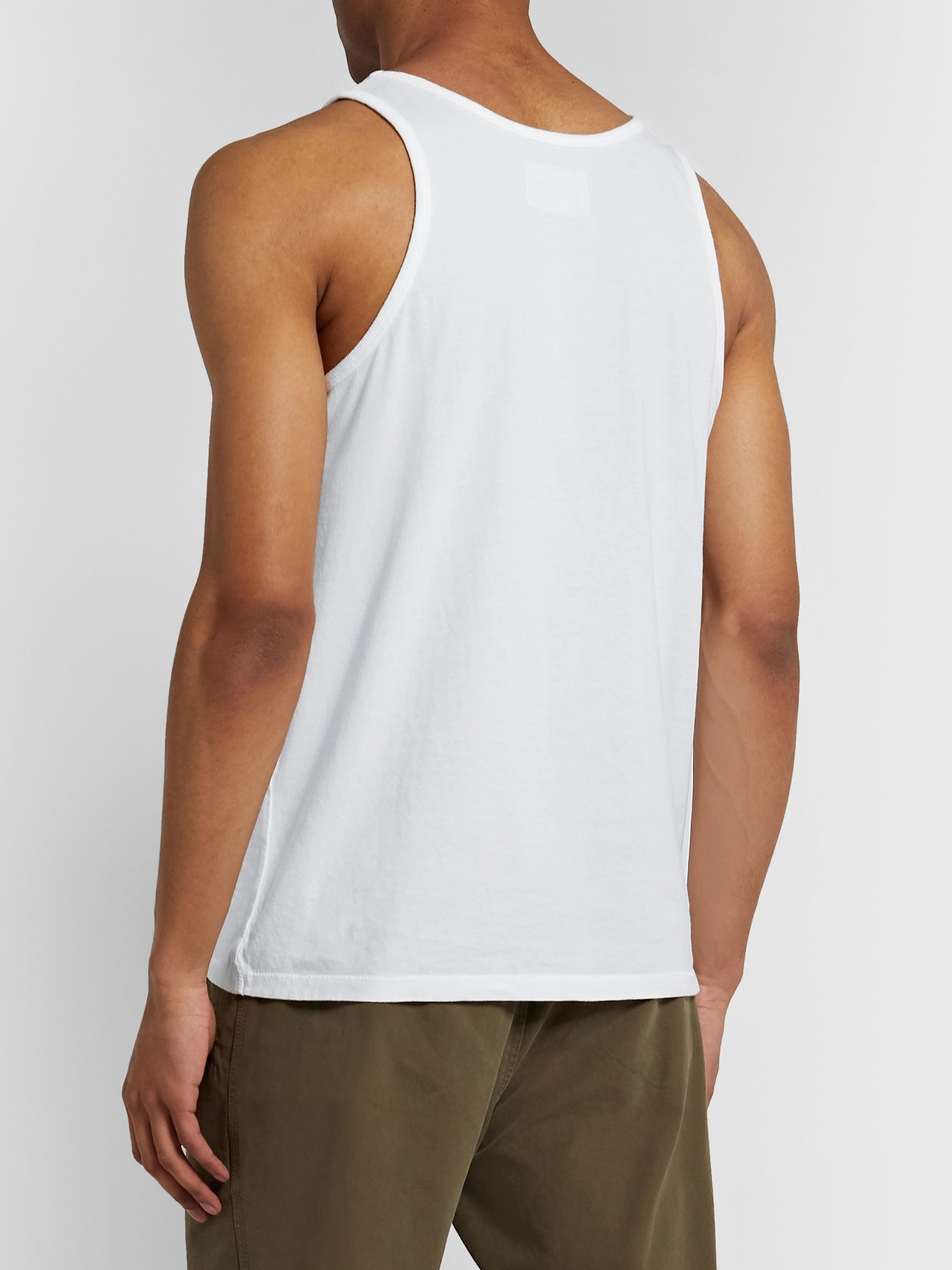Folk Cotton-Jersey Tank Top