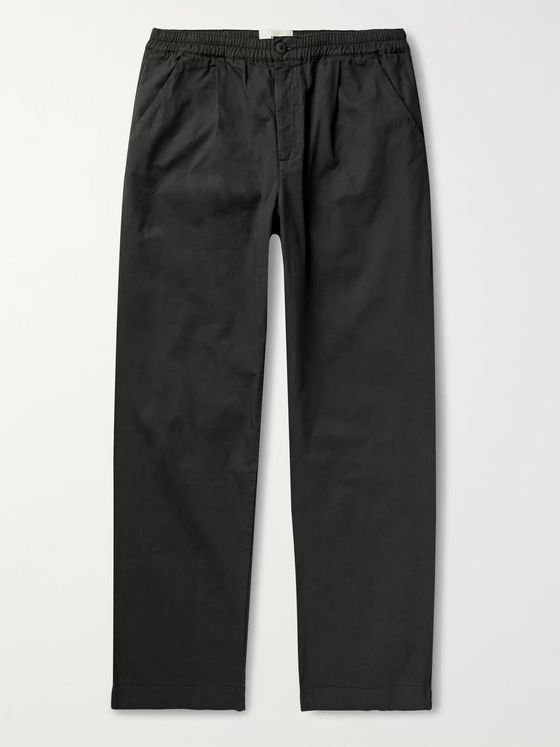 Folk Loom Garment-Dyed Cotton-Canvas Trousers