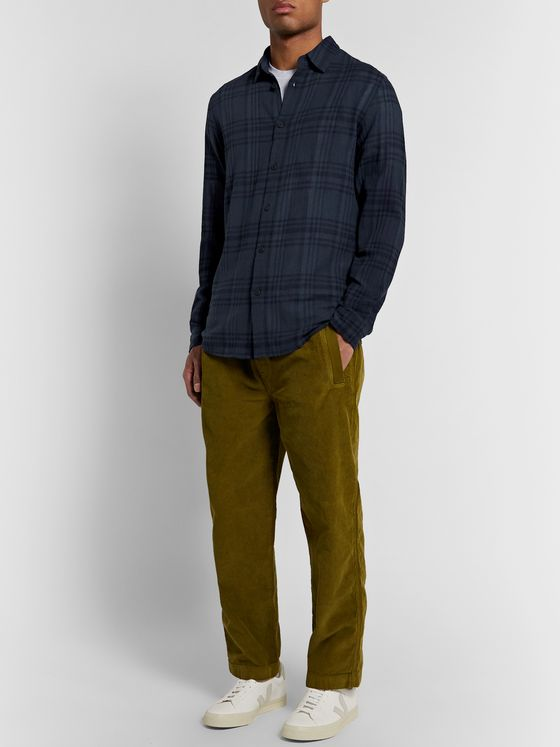 Folk Checked Cotton-Gauze Shirt