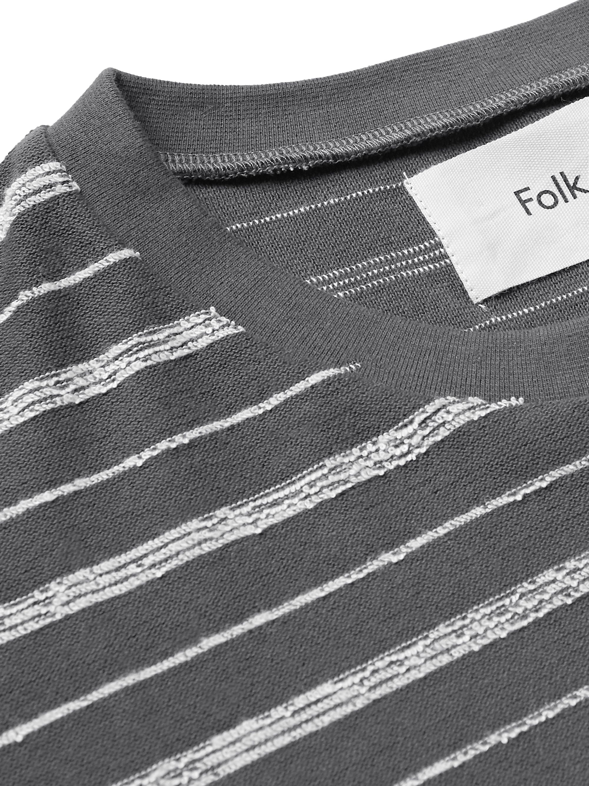 Folk Striped Cotton-Blend T-Shirt