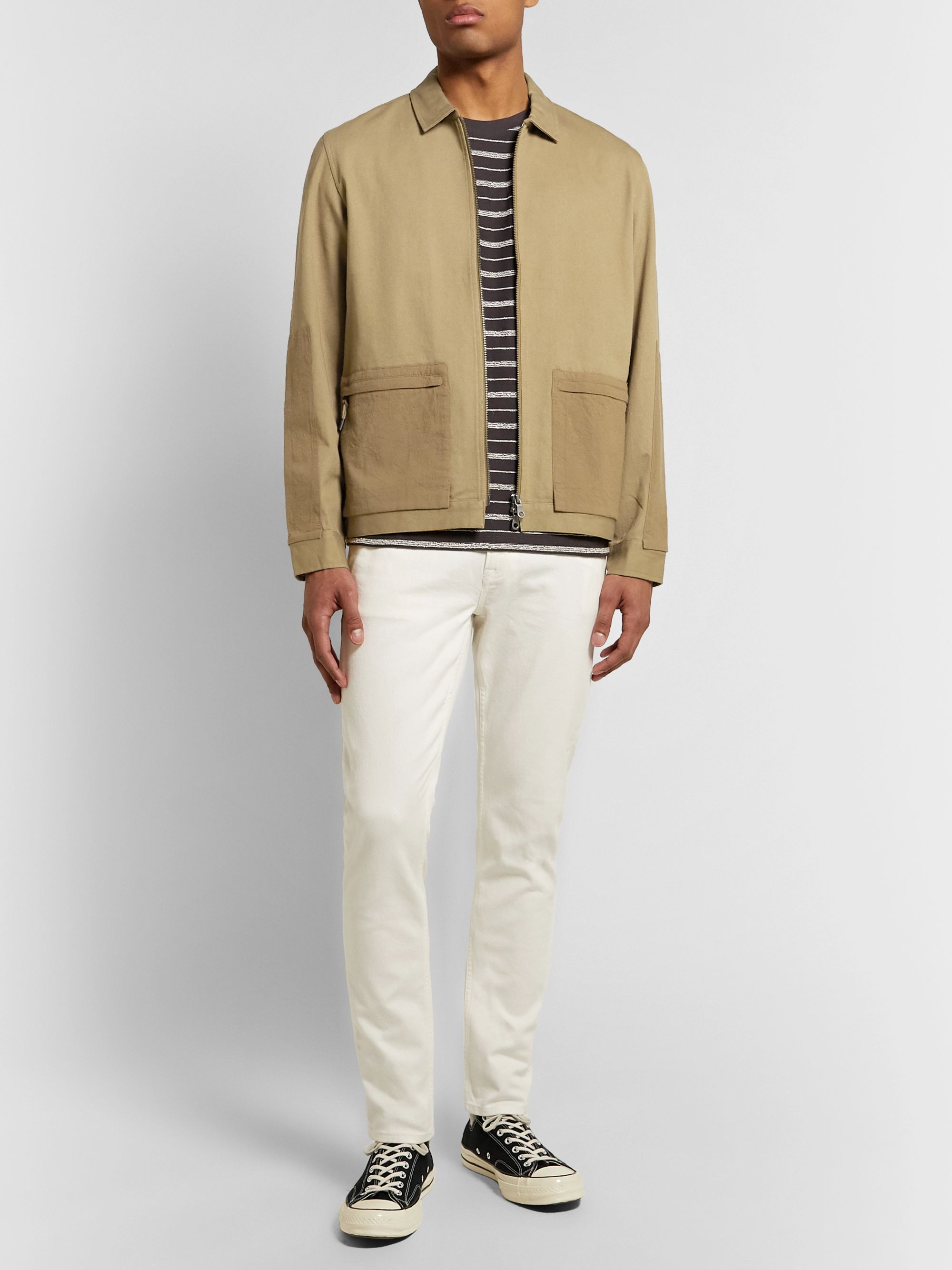 Folk Overlay Panelled Cotton-Twill Chore Jacket