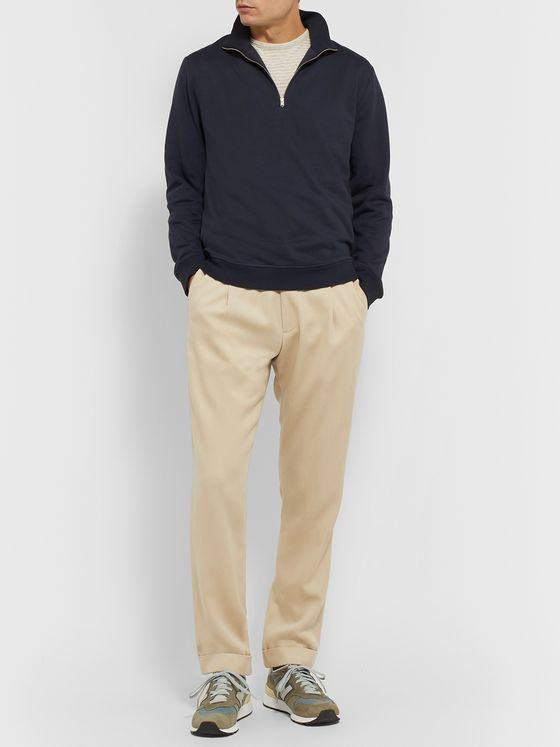 Norse Projects Fjord Loopback Cotton and COOLMAX-Blend Jersey Half-Zip Sweatshirt