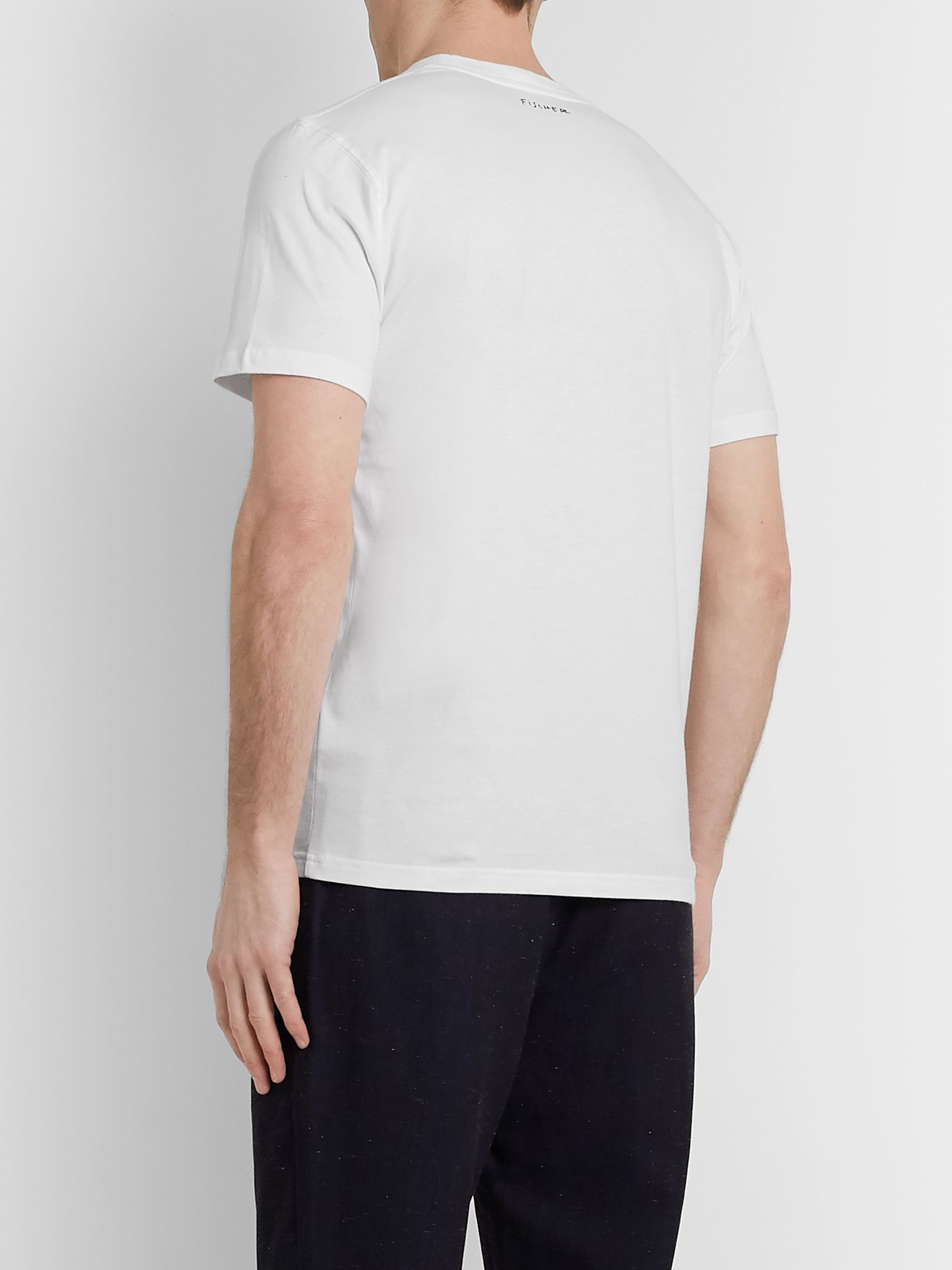 Norse Projects + Jeremie Fischer Niels Slim-Fit Printed Cotton-Jersey T-Shirt