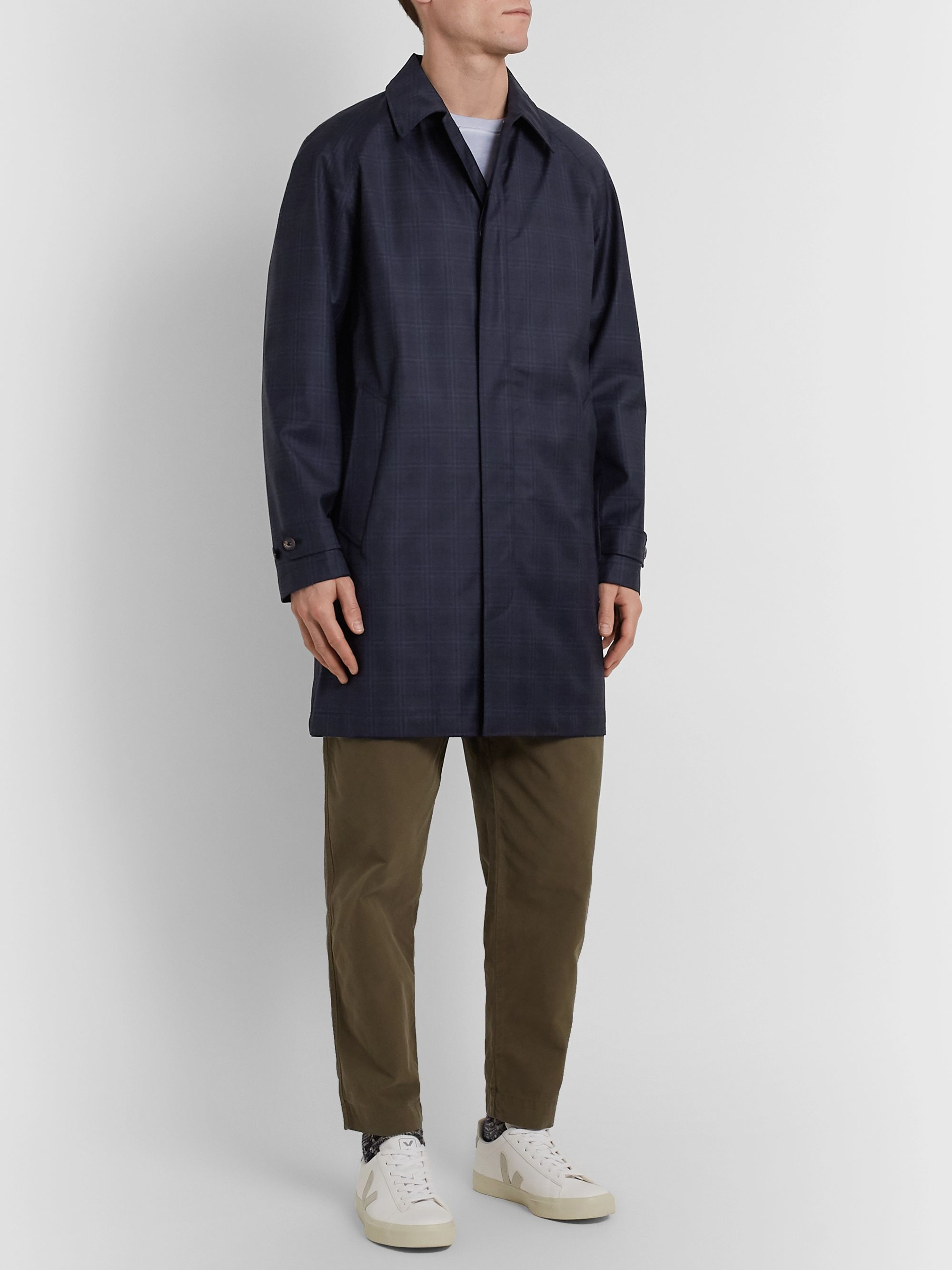 Norse Projects Svalbard Checked Storm System Wool Coat