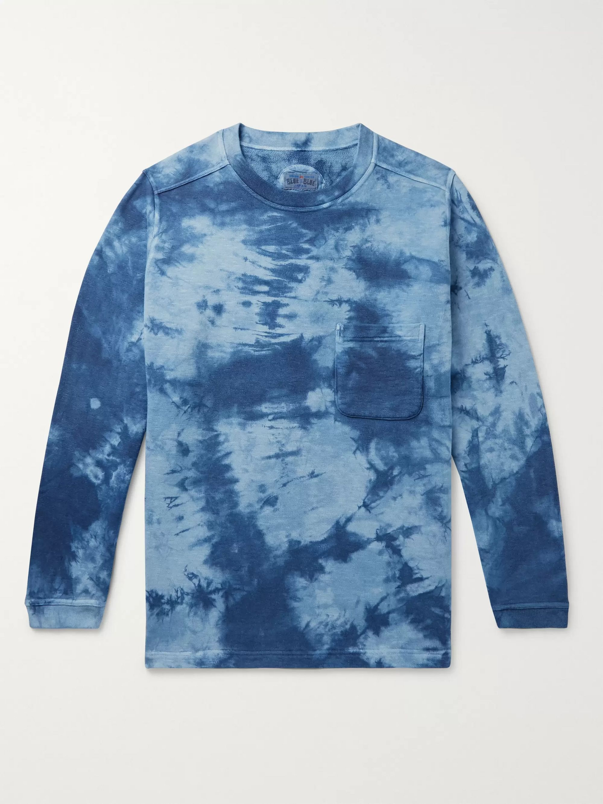 Blue Blue Japan Indigo Tie-Dyed Loopback Cotton-Jersey Sweatshirt