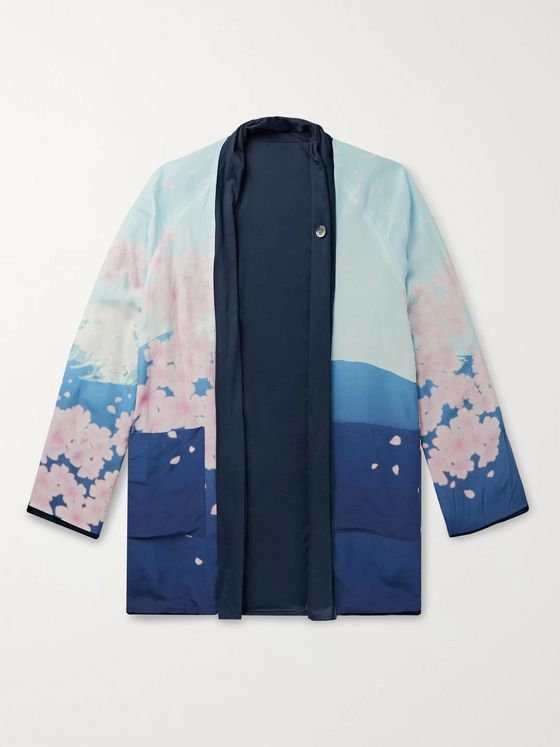 Blue Blue Japan Reversible Printed Woven Jacket