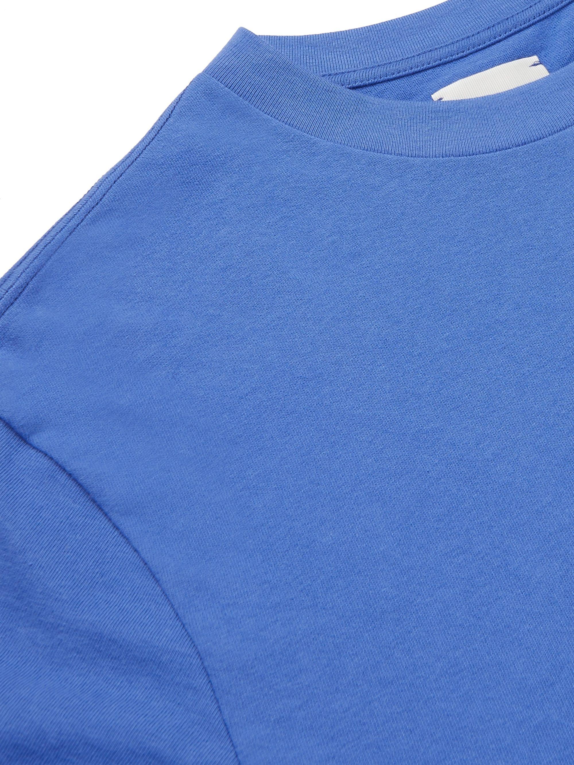 Blue Logo-embroidered Cotton-jersey T-shirt | Aimé Leon Dore