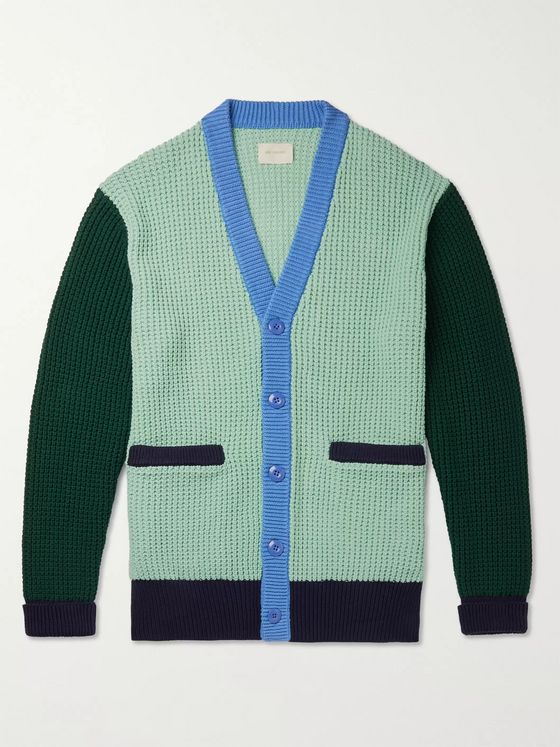 Aimé Leon Dore Colour-Block Cotton Cardigan