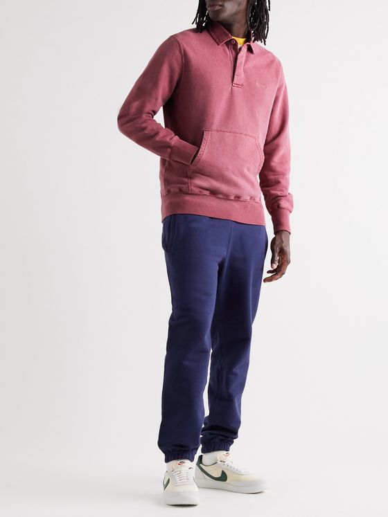 Aimé Leon Dore Pigment-Dyed Embroidered Fleece-Back Cotton-Jersey Sweatshirt