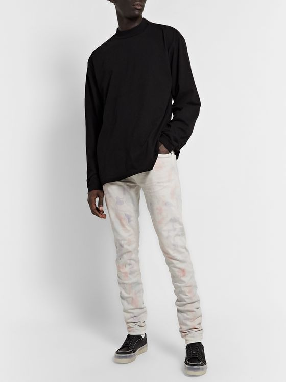 John Elliott The Cast 2 Skinny-Fit Tie-Dyed Denim Jeans