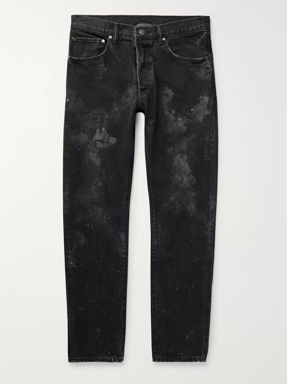 John Elliott Kane 2 Paint-Splattered Distressed Denim Jeans