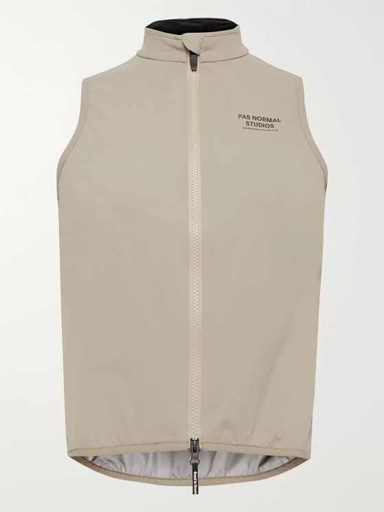 Pas Normal Studios Shield Logo-Print Shell Cycling Gilet