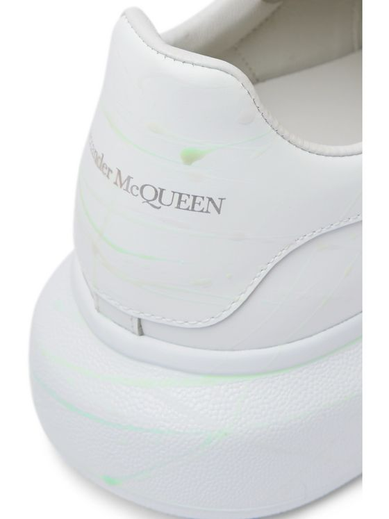 Alexander McQueen Glow-In-The-Dark Exaggerated-Sole Rubber-Trimmed Leather Sneakers